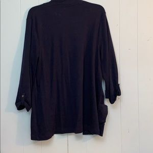 croft & barrow Sweaters - Croft & Barrow Navy Blue 3/4 Sleeve Cardigan Sz XL